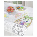 Happy Easter Kid's Colouring Tablecover 91cm x 1.21m - 6 PC