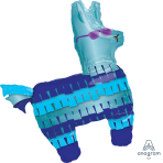 "Battle Royal Llama SuperShape Foil Balloons 29""/73cm w x 33""/83cm h P35 - 5 PC"