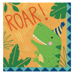 Dino-Mite Party Luncheon Napkins 33cm - 12 PKG/16