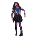 Skeleton Sustainable Costume - Age 6-8 Years - 1 PC