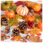 Pumpkin Decorations Kits - 24 PKG/128