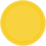 Sunshine Yellow Paper Plates    - 17.7cm - 12 PKG/8