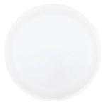 Round Plastic White Platters - 35.5cm - 12 PKG