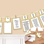 Gold Seating Chart Garland 3.65m - 6 PC