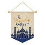 Eid Ramadan Kareem Canvas Banners 28cm x 38cm - 9 PC