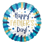 Happy Father's Day Painted Stripes Standard HX Foil Balloons S40 - 5 PC