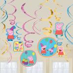 Peppa Pig Swirl Decorations - 6 PKG/12