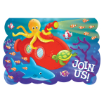 Deep Sea Fun Folded Invitations  - 6 PKG/8