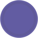 New Purple Paper Plates 18cm - 6 PKG/20