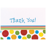 Thank you Card Bright Dots - 6 PKG/8