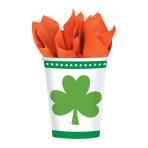 Lucky Shamrocks Paper Cups 266ml - 12 PKG/8