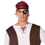 Pirate Skull & Crossbones Print Eyepatches - 12 PC