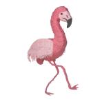 Pink Flamingo Pinatas - 4 PC
