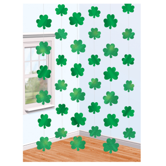 Shamrock String Decorations 2.1m - 12 PKG/6