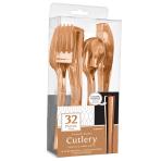 Rose Gold Premium Assorted Cutlery - 6 PKG/32