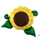 "Satin Infused Sunflower SuperShape Foil Balloons 30""/76cm w x 26""/66cm h P35 - 5 PC"