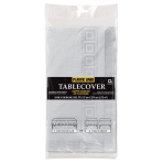 Silver Sparkle Paper Tablecovers 1.37m x 2.74m - 6 PC