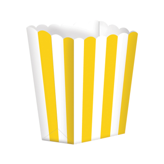 Sun Yellow Candy Buffet Popcorn Treat Boxes - 24 PKG/5