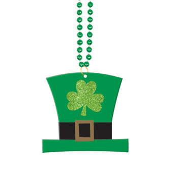 St. Patrick's Day Pearl Bead Necklaces - 24 PC