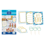 Blue Buffet Decorating Kits - 6 PC