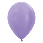 "Satin Solid Lilac 450 Latex Balloons 12""/30cm - 25 PC"