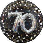 Gold Sparkling Celebration 70th Birthday Multi Balloons P75 - 5 PC