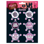 Hen Night Party Posse Badges - 6 PKG/6