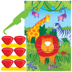 Jungle Animals Party Games - 12 PKG/4