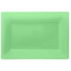 Kiwi Green Plastic Serving Platters - 6 PKG/3