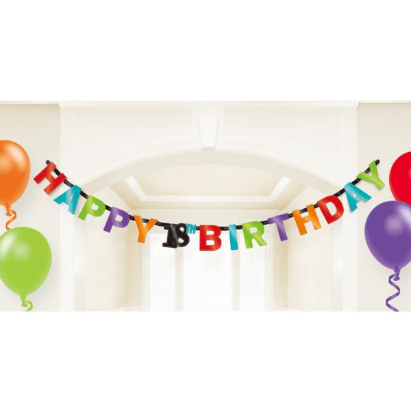 18th birthday foil letter banners 17cm h 12 pkg