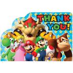 Super Mario Thank You Postcards - 6 PKG/8