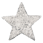 Silver Foil Star Pinatas - 4 PC