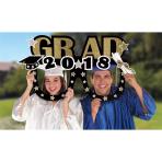 2018 Grad Jumbo Foil Photo Prop Frames 101cm - 6 PC