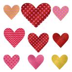 Valentine Glitter Dots Cut-Outs - 9 PKG/9
