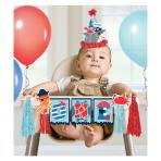 Ahoy Birthday High Chair Decoration Banner 96.5cm - 6 PC