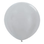"Satin Silver 481 Latex Balloons 24""/60cm - 3 PC"