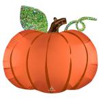 """Satin Infused Pumpkin SuperShape XL Foil Balloons 25""""/63cm w x 24""""/60cm h P35 - 5 PC"""
