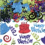 Happy Birthday Foil Confetti 70g - 12 PC