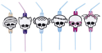 Monster High Straws 24cm - 10 PKG/8