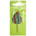 Dots & Stripes Candle Number 6 - 7.6cm 12 PKG