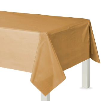 Gold Plastic Tablecovers 1.37m x 2.74m - 12 PC
