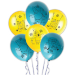 "SpongeBob Square Pants Latex Balloons 11""/27.5cm - 6 PKG/6"