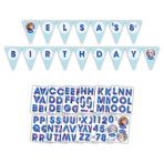Frozen Holographic Personalised Pennant Banner 3m x 20cm - 6 PKG