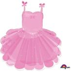 "Ballerina Tutu SuperShape Foil Balloons 23""/58cm w x 28""/71cm h P35 - 5 PC"