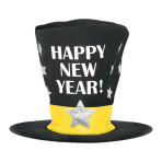 Oversized Happy New Year Top Hats 30cm - 6 PC