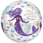 "Mermaid Wishes Orbz Foil Balloons 15""/38cm x 16""/40cm G20 - 5 PC"
