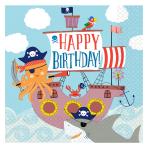 Ahoy Birthday Luncheon Napkins 33cm - 6 PKG/16