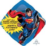 """Superman Father's Day SuperShape Foil Balloons 29""""/74cm w x 29""""/74cm  P38 - 5 PC"""