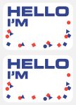 """Hello I'm"" Name Tag - 12 PKG/100"