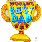 "Best Dad Trophy SuperShape XL Foil Balloons 26""/66cm x 27""/68cm P30 - 5 PC"